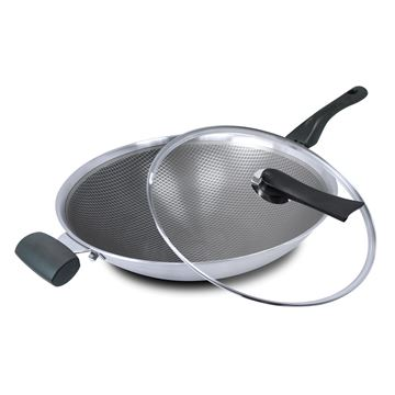 Picture of Cuoco Stainless Steel Non-Stick Wok MCW010